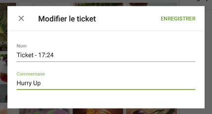 le commentaire du ticket
