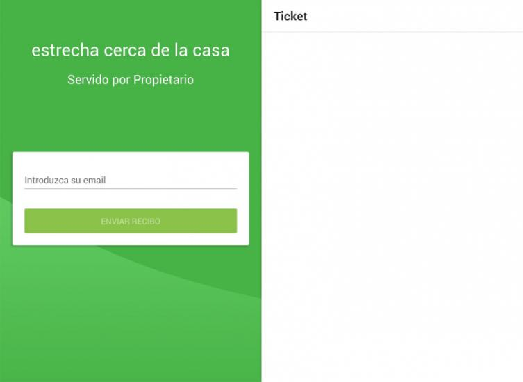 un ticket en blanco