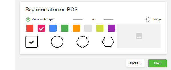 'Representation on POS' section
