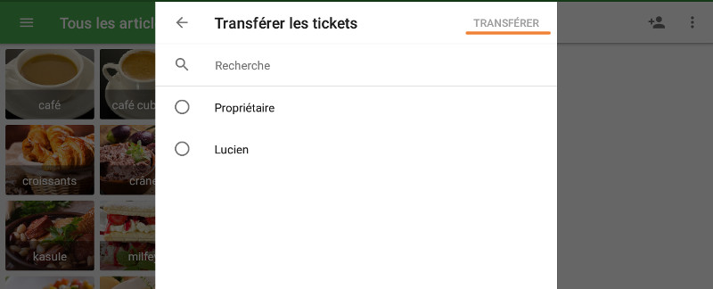 Transférer les tickets
