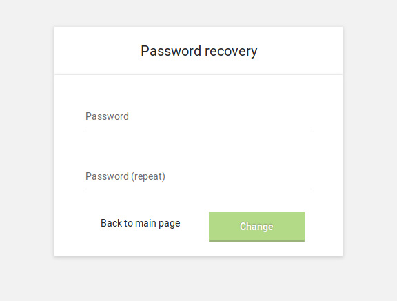 Recover password emails