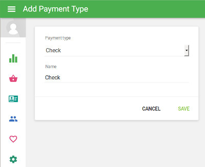 Add Payment Type window