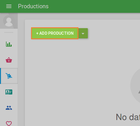 '+ Add production' button