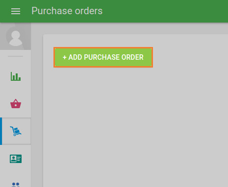 '+ Add purchase order' button