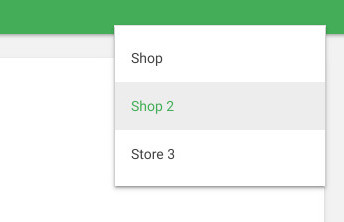 selecting stores from the drop-down list