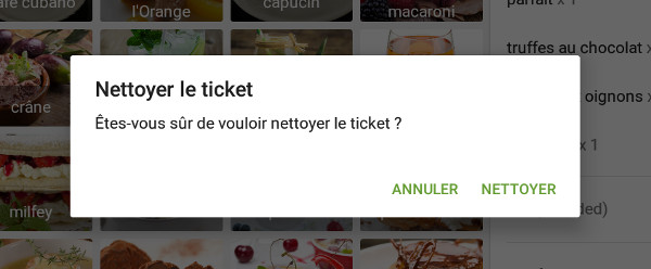 Nettoyer le ticket