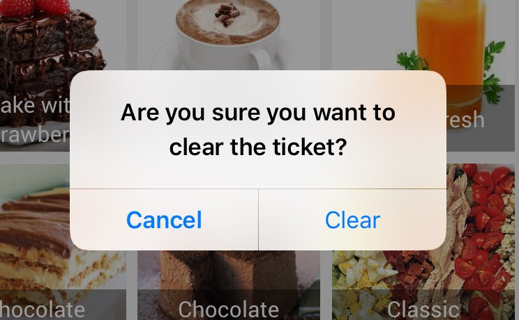 'Clear ticket' confirmation