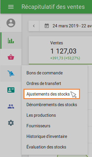 Ajustements des stocks