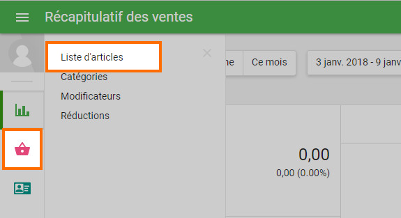 Allez dans le menu « Liste » dans le back office.