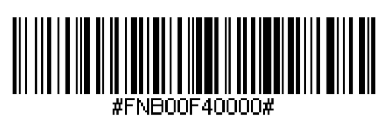 barcode to configure the scanner