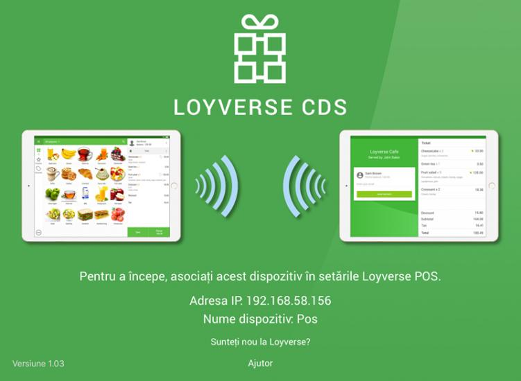 Loyverse CDS welcome screen